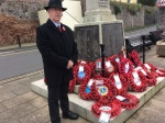 Martyn lays BDC and wreath at cenotaph - 8 Nov 20